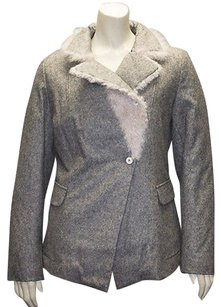 Brunello Cucinelli Wool Blend Sheep Fur Trim Hs726 Coat