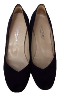 Bruno Magli Black Platforms