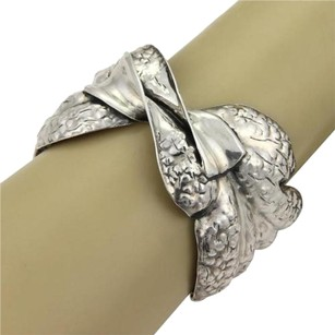 BUCCELLATI Estate Mario Buccellati Fancy Twist Sterling Silver Cuff Bangle