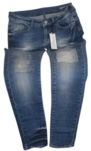 Buffalo David Bitton Mid Rise Skinny Jeans-Medium Wash