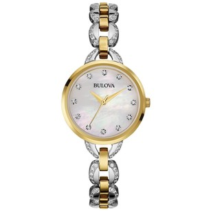 Bulova Bulova 98l206 Womens Facets Two-tone Stainless Steel Mop Dial