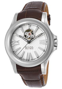 Bulova Bulova Accu-Swiss Men's Brown Genuine Leather White