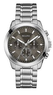 Bulova Bulova Stainless Steel Chronograph Mens Watch 96a180