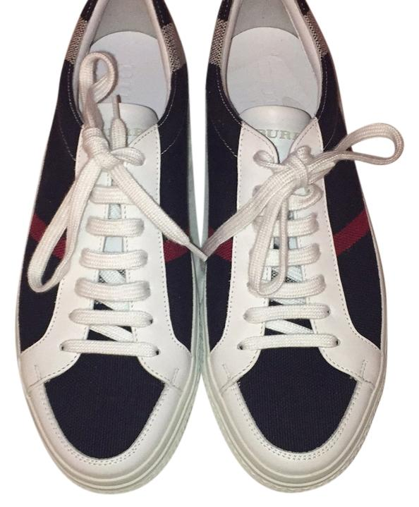 burberry check print sneakers 39 multicolor athletic