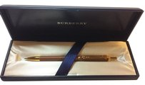 Burberry Authentic Burberry Brown Gold Ballpoint Pen