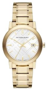 Burberry Authentic Burberry Men's Large Goldtone Stainless Steel Bracelet