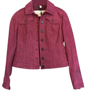 Burberry Beetroot Leather Jacket
