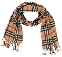 Burberry Beige, multicolor Cashmere Burberry Nova Check Plaid Scarf