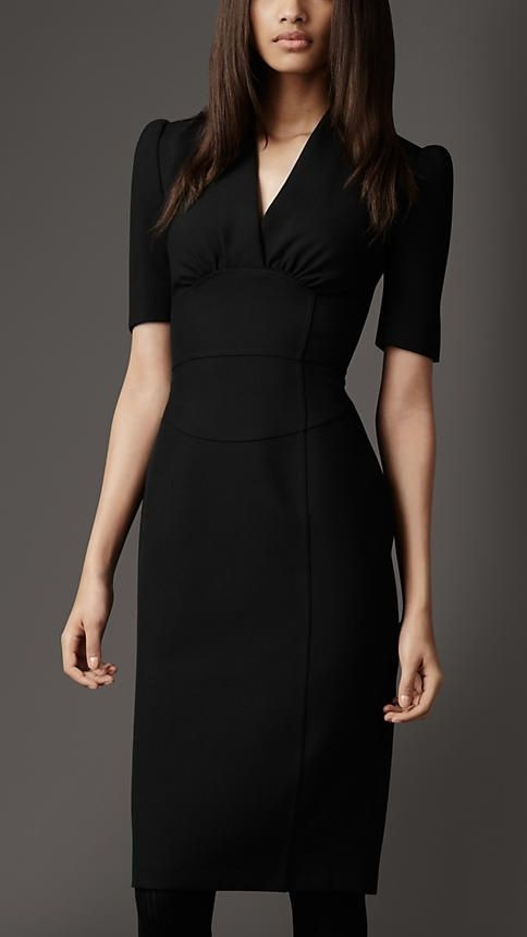knee length black dress