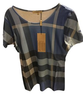 Burberry Brit T Shirt Blue Plaid