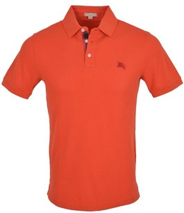 Burberry Brit Men's Polo T Shirt Orange Red