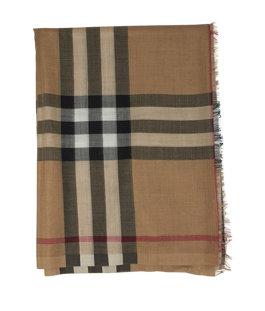 burberry scarf outlet sols  Burberry BURBERRY tan nova check wool and silk scarf