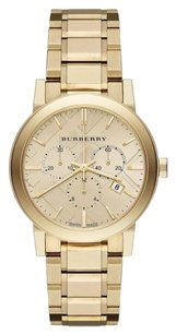 Burberry BU9753 the City Yellow Gold Stainless Chronograph Watch
