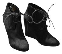 Burberry Calf Hair Wedge Black Boots