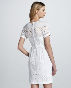 Burberry White Eyelet Bustier Dress Wedding