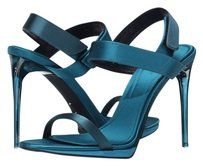 Burberry Fashion Pump Peep Toe Sandal Blue/Teal Pumps