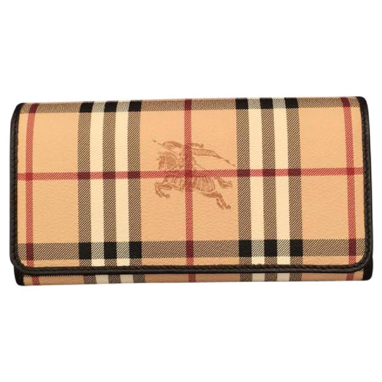 burberry outlet wallet q29z  Burberry Haymarket check wallet