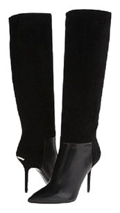 Burberry Leather Suede Stiletto Black Boots