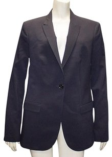 Burberry London Burberry London Navy Blue 100 Wool Button Front Blazer Jacket Hs965