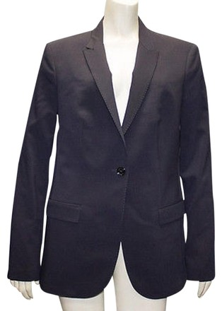 Burberry London Navy Blue 100 Wool Button Front Blazer Jacket Hs965 well-wreapped