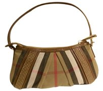 Burberry London Plaid Studded Shoulder Bag