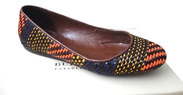 Burberry Woven Round-Toe Flats cheap sale fashion Style authentic sale online many kinds of sale wiki xsd1DQ