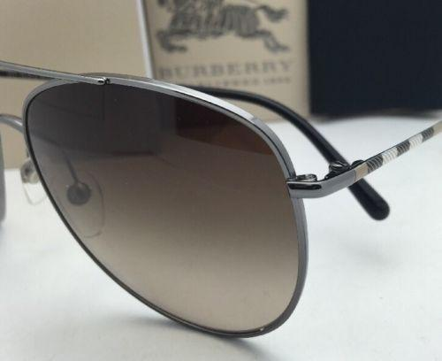 burberry sunglasses womens h4ho  Burberry New BURBERRY Sunglasses B 3072 1003/13 57-14 Gunmetal Aviator  Frame w