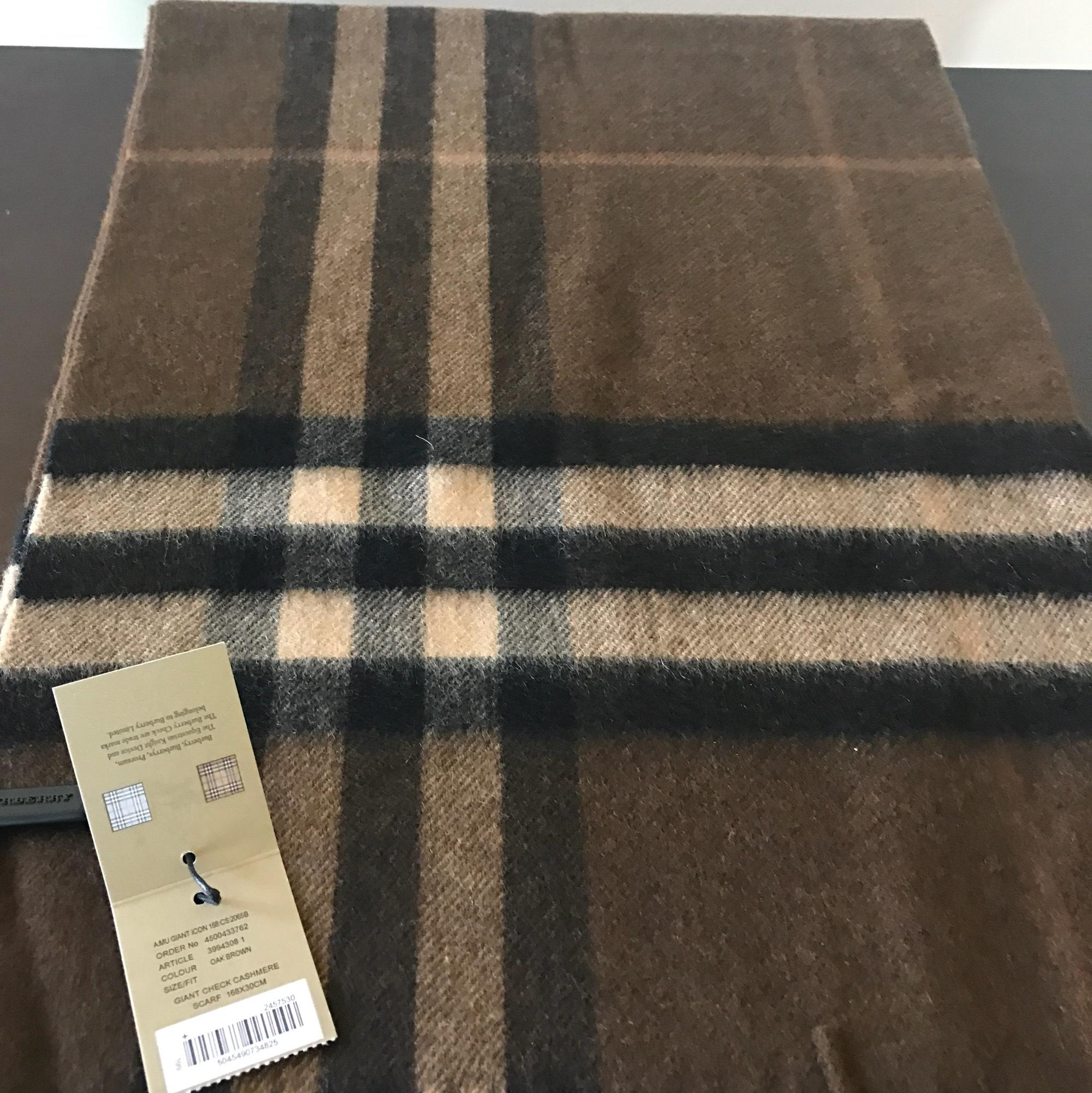 28020631271d ... red f43e5 7c119  where can i buy burberry oak brown mens giant check  cashmere scarf wrap tradesy 7dfe0 ada57