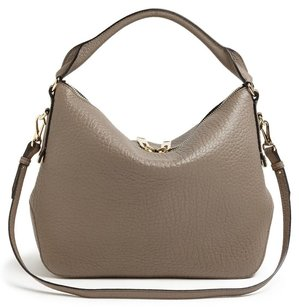Burberry Pebbled Leather Classic Hobo Bag
