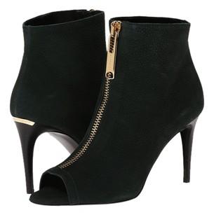 Burberry Peep Toe Ankle Boot Black Boots