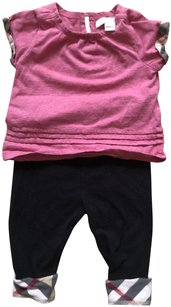 Burberry Baby Clothes Baby Leggings T-shirt T Shirt Pink