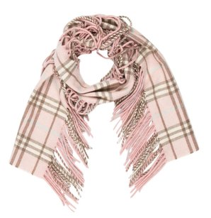 Burberry Pink, Multicolor Burberry Cashmere House Check Scarf