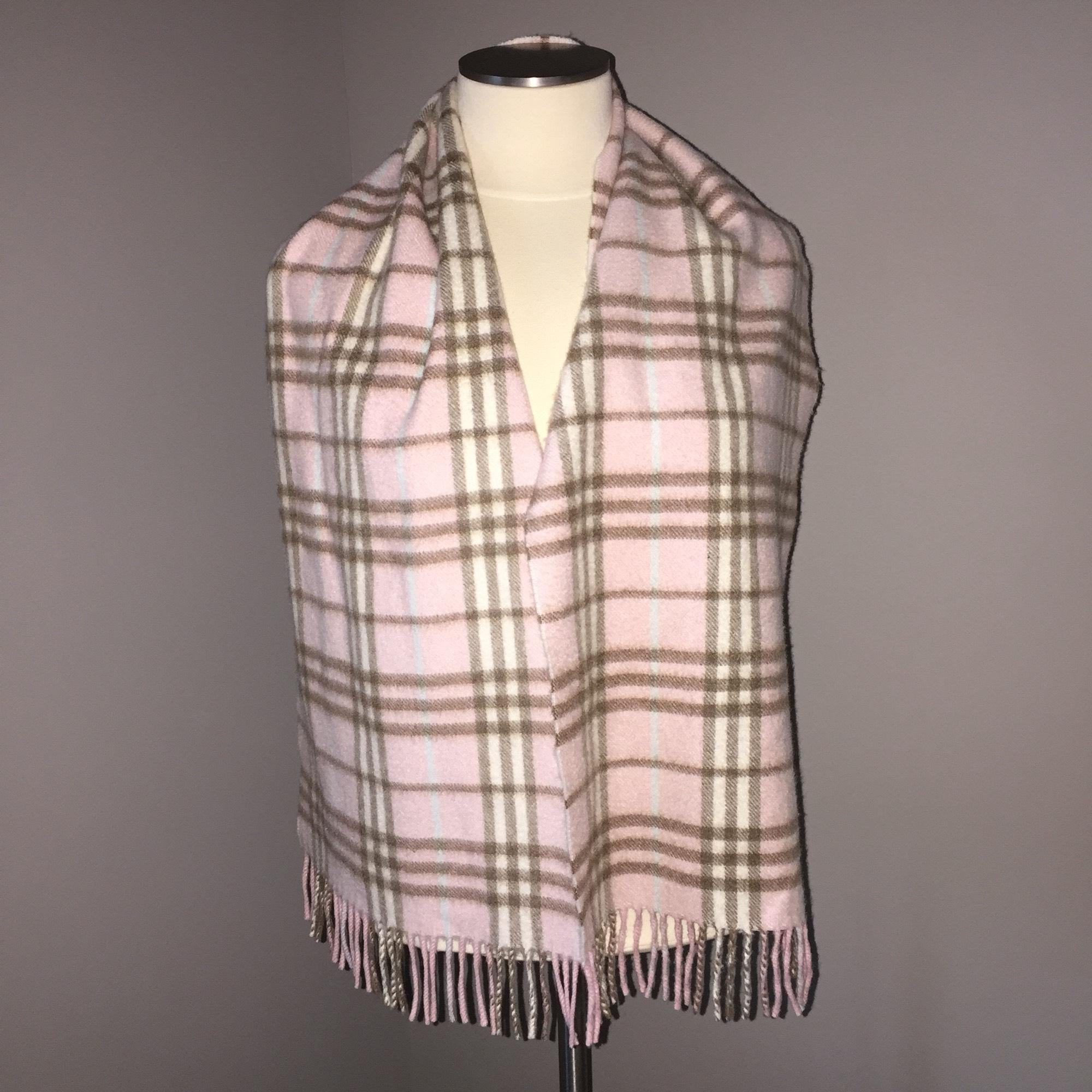 8a58150ea8ff Ink 3c927 France Pink Burberry 064b1 Scarf Check Cashmere nORXCgvq
