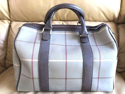 Burberry Handbag Leather Shoulder Gucci Lv Satchel in Brown and multicolored