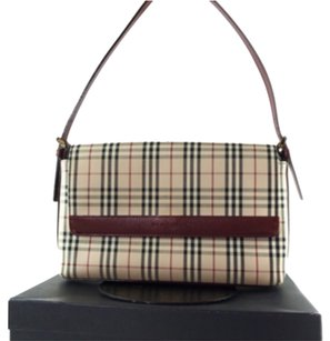 Burberry Satchel in Beige Reds
