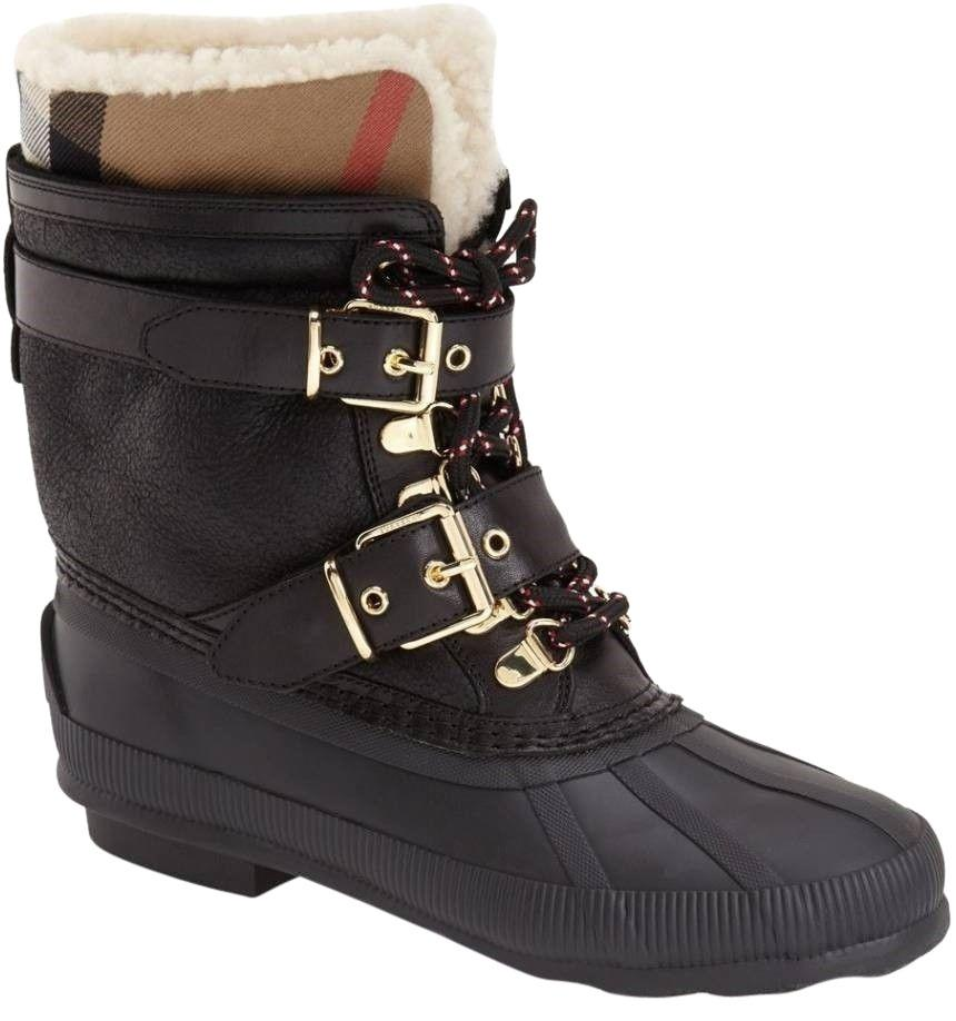 Burberry Leather Snow Boots vE2mNiI