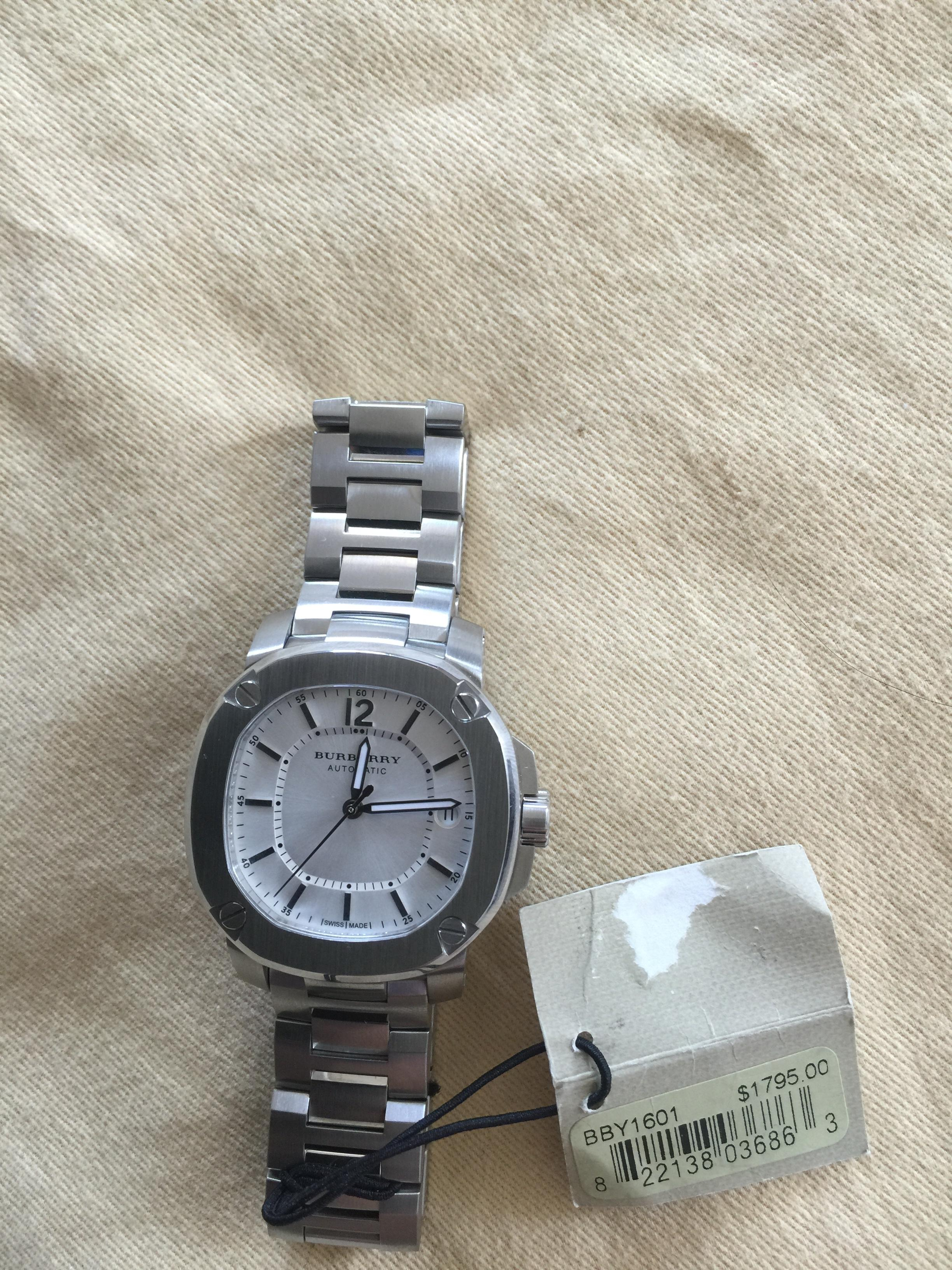 burberry automatic watch price