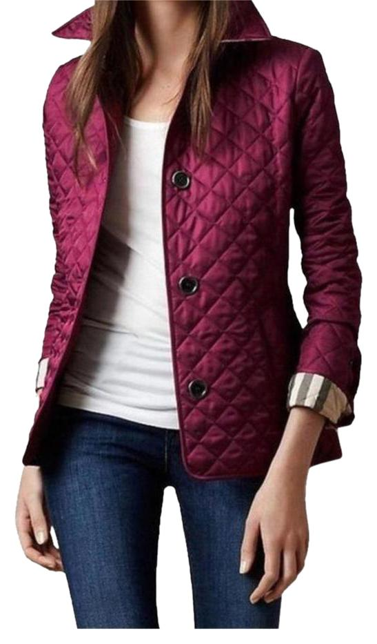 Womens red burberry jacket