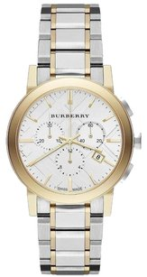 Burberry the City Two Tone Stainless Steel Chronograph Watch BU9751