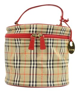 Burberry Vanity Cyllinder Make Up Satchel in Novacheck