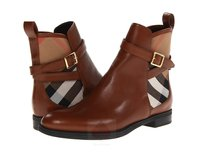 Burberry Women Chestnut Brown/ House Check Boots