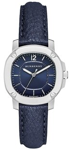 Burberry Women's The Britain Leather Strap Watch, Navy Burberry BBY1716
