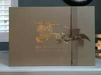 Burberry Wow! Big New Gift Box with Ribbon.