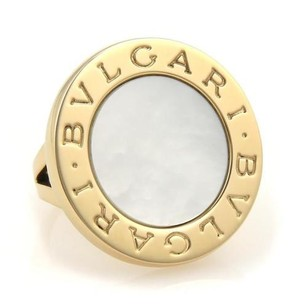 BVLGARI Bulgari Bvlgari Mother Of Pearl 18k Yellow Gold Round Top Ring