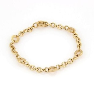 BVLGARI Bulgari Bvlgari Solid 18kt Yellow Gold Open Circle Link Bracelet