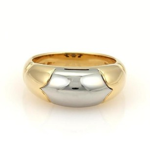 BVLGARI Bulgari Bvlgari Tronchetto 18k Yellow Gold Steel Band Ring