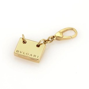 BVLGARI Bulgari Bvlgari Vintage 18k Yellow Gold Flashcard Collectible Charm Pendant