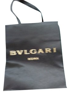 BVLGARI Bvlgari Black satin shopping bag