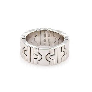 BVLGARI Bvlgari Bulgari 18k White Gold Parentesi Stretch Band Ring 8mm