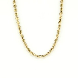 BVLGARI Bvlgari Bulgari 18k Yellow Gold Mariner Chain Link Bar Tag Necklace